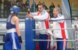 Cindy Vrel (France) and her coaches